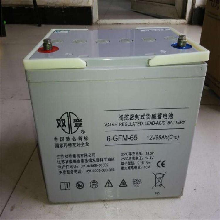 双登蓄电池12v65AH 免维护电池 直流屏 UPS电源 EPS专用全新正品