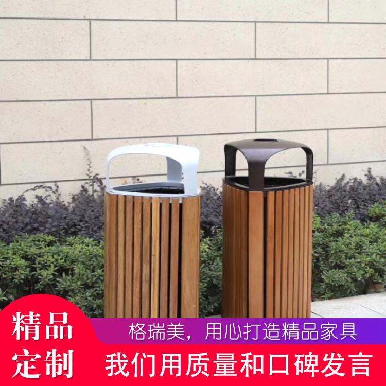 苏州商场垃圾桶 环卫塑木垃圾桶价格优惠美观质量好