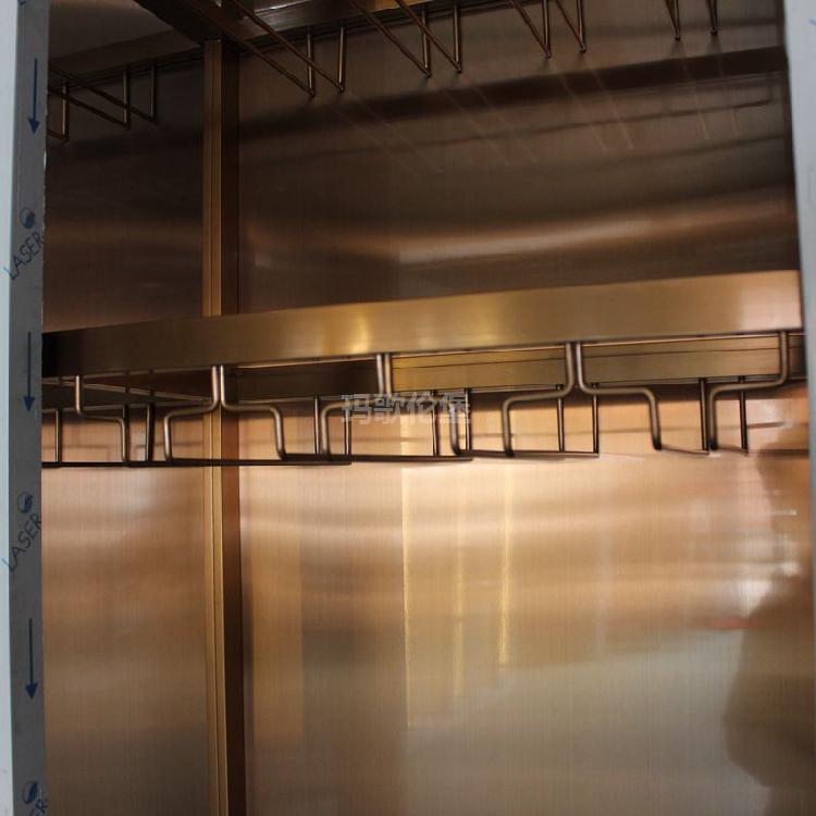 不锈钢葡萄酒展示柜-橱柜带酒柜定制-玛歌伦堡