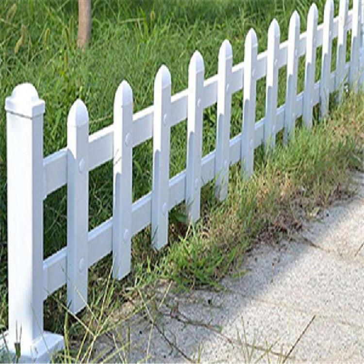 厂家现货白色草坪护栏 定制木纹色园艺草坪护栏 花园公园花圃围栏