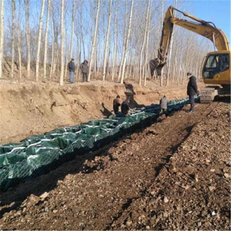 石笼袋价格厂家生态袋绿色土工石笼袋