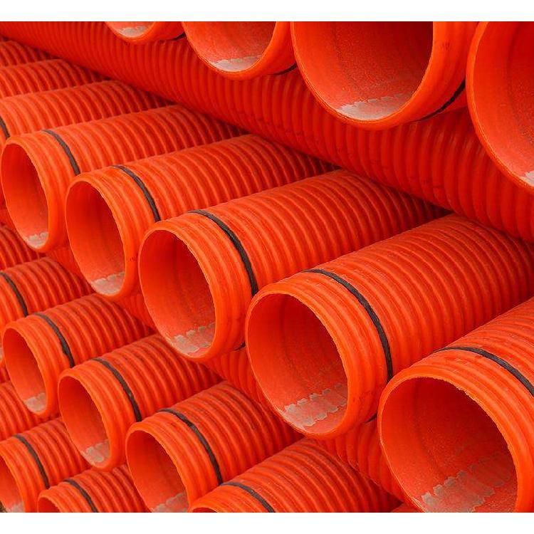 电力波纹管QH/乾海塑生产mpp波纹环保性能突出优质mpp电力波纹管穿线保护橘色六米一个