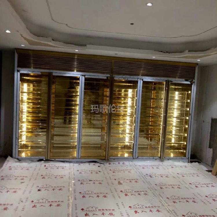 红酒柜-不锈钢酒柜生产定制-定做高端酒柜-冰吧酒柜-玛歌伦堡