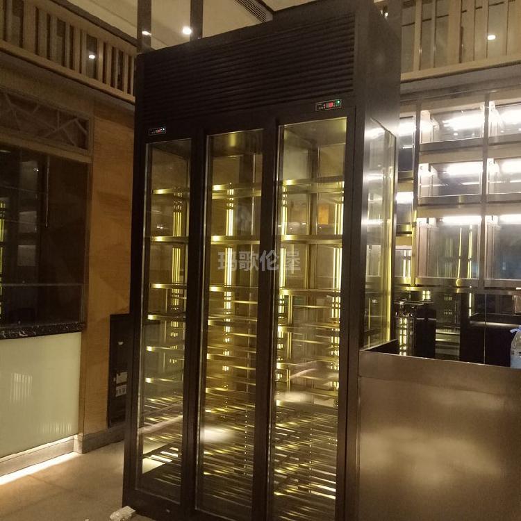 不锈钢红酒酒柜-不锈钢恒温酒柜定制-不锈钢酒柜厂家-红酒恒温柜-玛歌伦堡