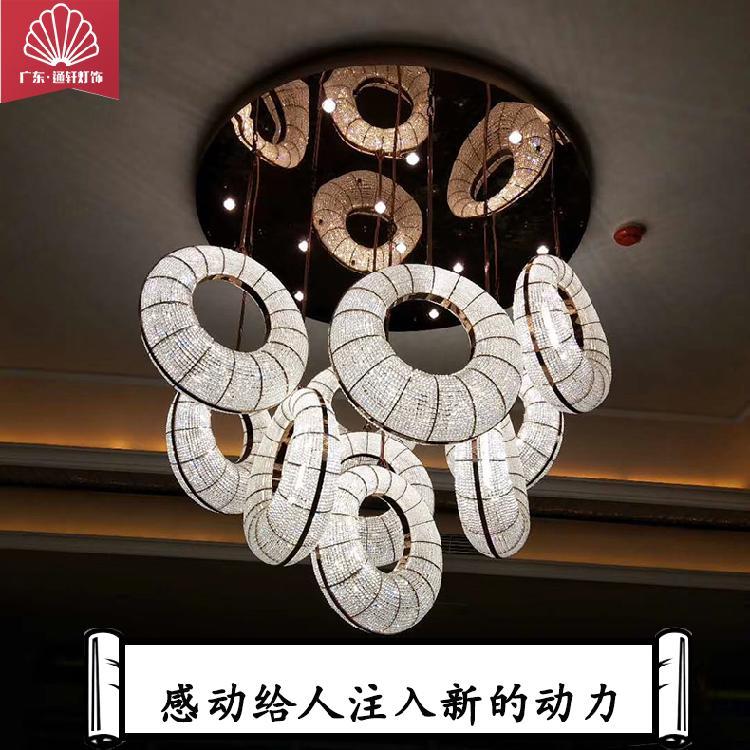 品牌厂家直销柔性定制LED水晶吸顶灯客房书房个性创意灯具餐厅曲奇饼工程定制灯具