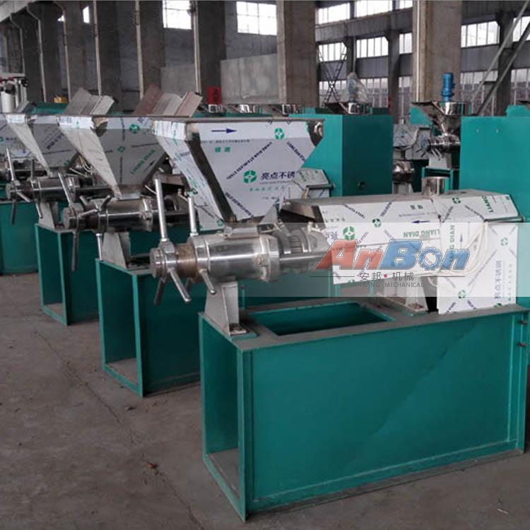 安邦螺旋榨油机设备 家用螺旋榨油机 推出新型不锈钢榨油机