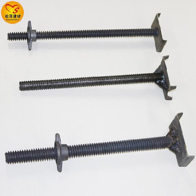 可调顶托 u型支托 钢管顶丝一个价钱 松茂建材