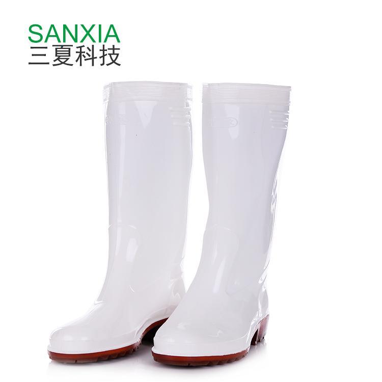 防滑防水食品厂工作鞋 高筒水鞋 神像 耐酸碱工作鞋