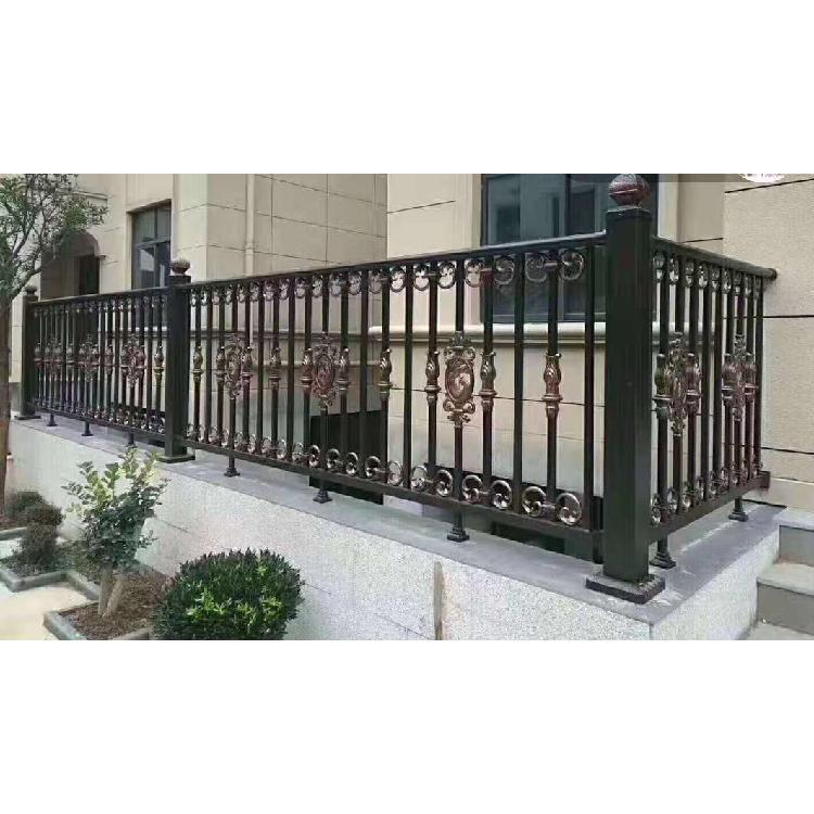 欧式雕花铝艺护栏庭院别墅围栏小区花园铸铝护栏铝艺阳台护栏厂家定制
