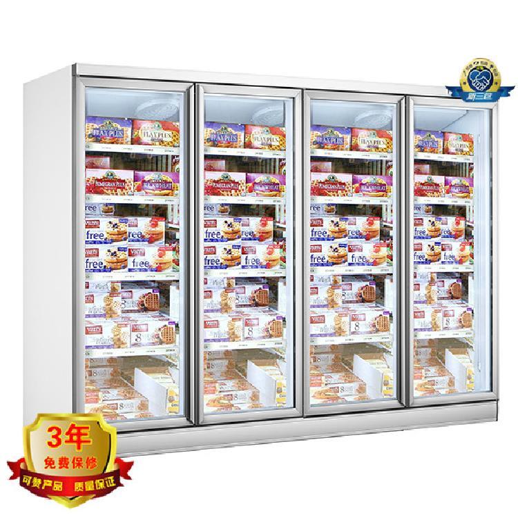 冷冻分体四门 KM-2734D 玻璃门冷冻柜