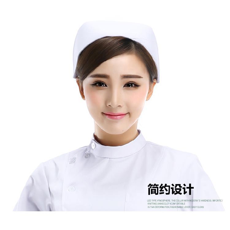 护士帽 白色包邮加厚涤卡卫校实习帽ICU护士长燕尾帽粉色夏季 燕尾帽白色粉色蓝色护士长工作帽
