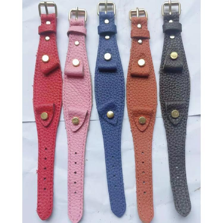 永大皮件纯手工表带真皮针扣牛皮复古做旧各色牛皮手表带配件批发