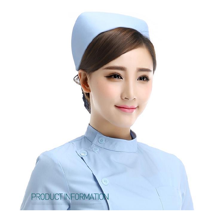 白色护士帽 加厚涤卡卫校实习帽ICU护士长燕尾帽粉色夏季 燕尾帽白色粉色蓝色护士长工作帽