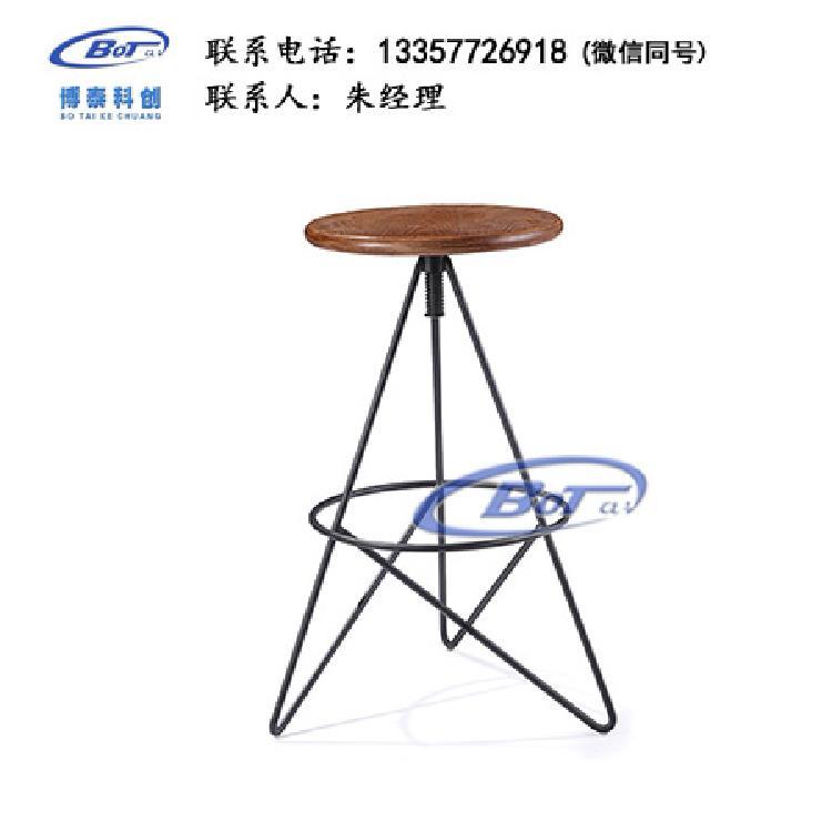 厂家直销 铁艺吧椅 实木吧椅 吧台椅 酒吧椅 高脚椅 不锈钢吧椅 定制原木软包椅子SM-13