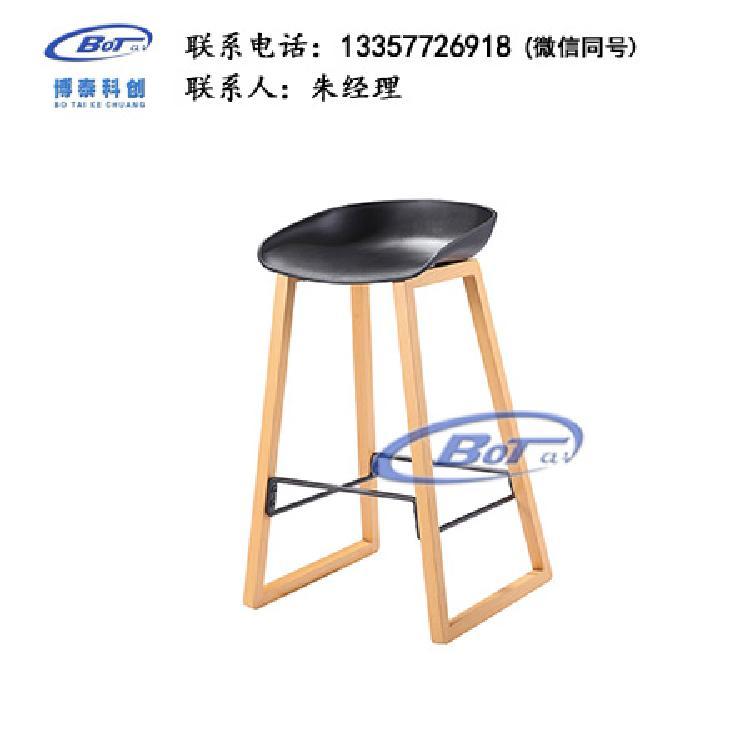 厂家直销 铁艺吧椅 实木吧椅 吧台椅 酒吧椅 高脚椅 不锈钢吧椅 定制原木软包椅子SM-18