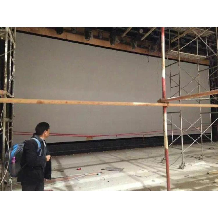 超窄边金属硬幕100寸1公分铝合金边框投影硬幕120寸画框幕定制厂