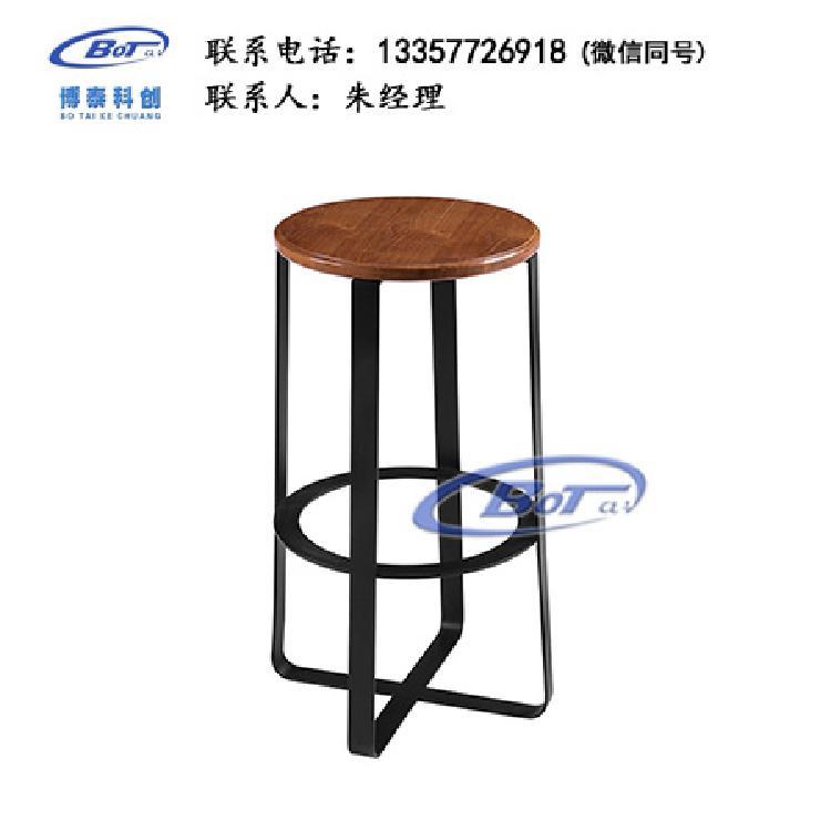 厂家直销 铁艺吧椅 实木吧椅 吧台椅 酒吧椅 高脚椅 不锈钢吧椅 定制原木软包椅子SM-20