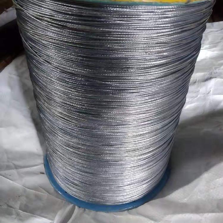 河北德力生产加工钢结构专用镀锌钢丝绳 玻璃棉拉网专用钢丝绳