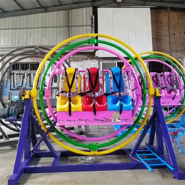新款360度旋转三维太空环游乐设备杂耍太空环儿童成人广场游乐场