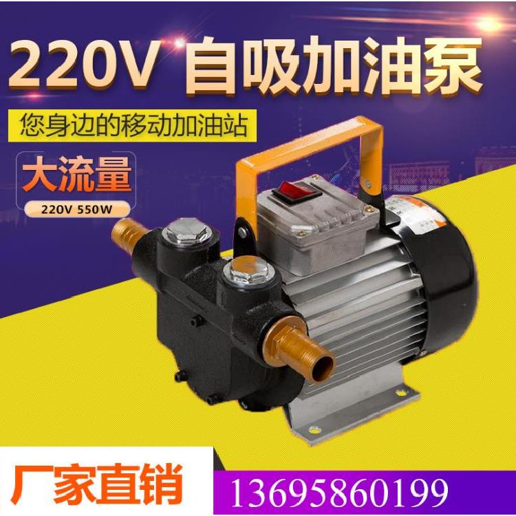 220V自吸泵 手提式便携自吸泵550w