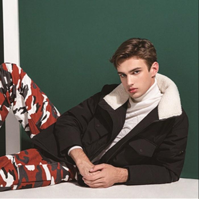 冬季羽绒服 男短款加厚立领白鸭绒 男士羽绒服韩版加盟