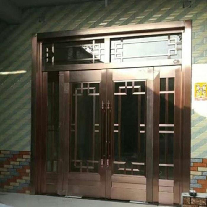 濮阳展示大厅门锌钢商务门定制批发