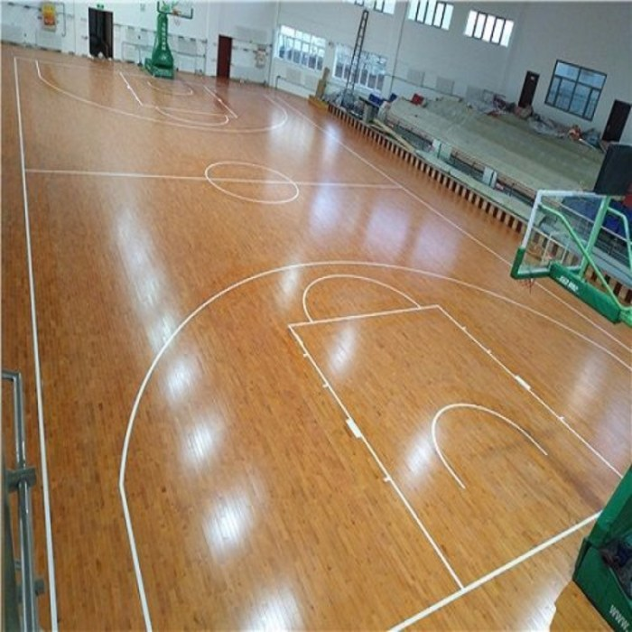 河北亿鑫运动木地板 篮球馆实木运动木地板 枫桦木运动木地板厂家批发
