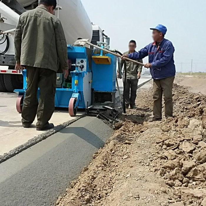 专业生产现浇成型路肩石滑模机 路缘石混凝土成型机 路沿石滑模机公路拦水带成型机