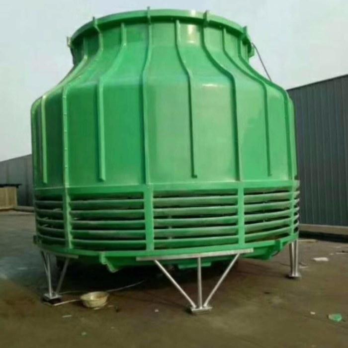 宏丰环保 枣强玻璃钢冷却塔 圆形逆流式冷却塔 玻璃钢冷却塔