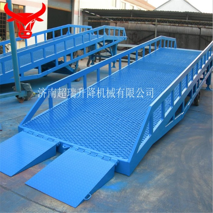 【超瑞】优质厂家定制2-8吨移动式登车桥 液压移动登车桥设备