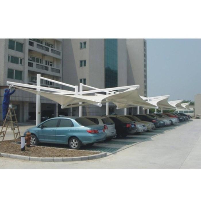 鑫绿荫 钢膜结构 景观棚 停车棚 钢膜结构小品 厂家