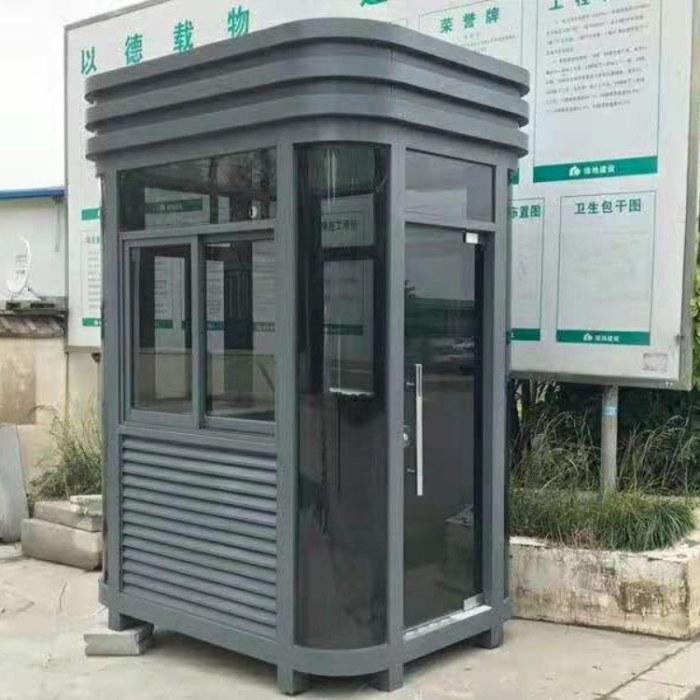 阿坝州-甘孜州酒店钢结构玻璃岗亭车道出入口收费 -成品岗亭-成品运输
