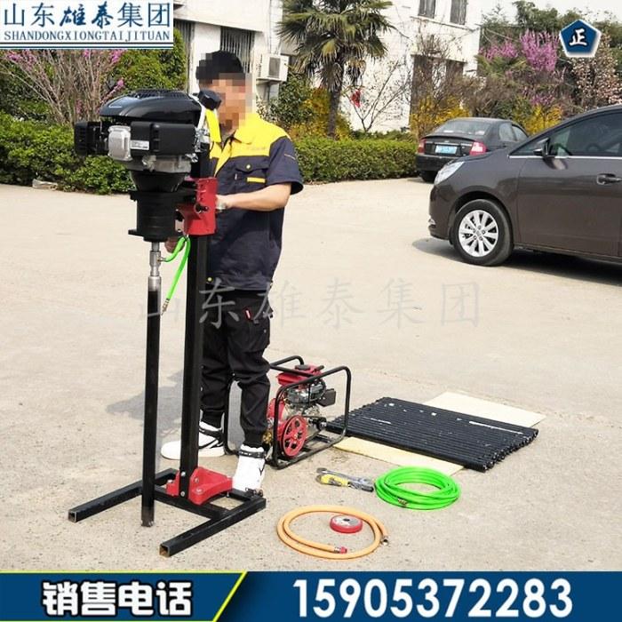 双人地质调研便携式背包钻机 轻便岩石取样钻探机现货 汽油动力