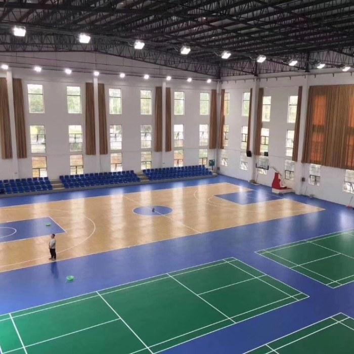 亿鑫室内篮球馆木地板结构  舞台木地板厂家定制
