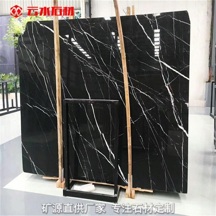 黑白根黑色过门石 经典石材不过时 灰色地砖选黑色的过门石很大气