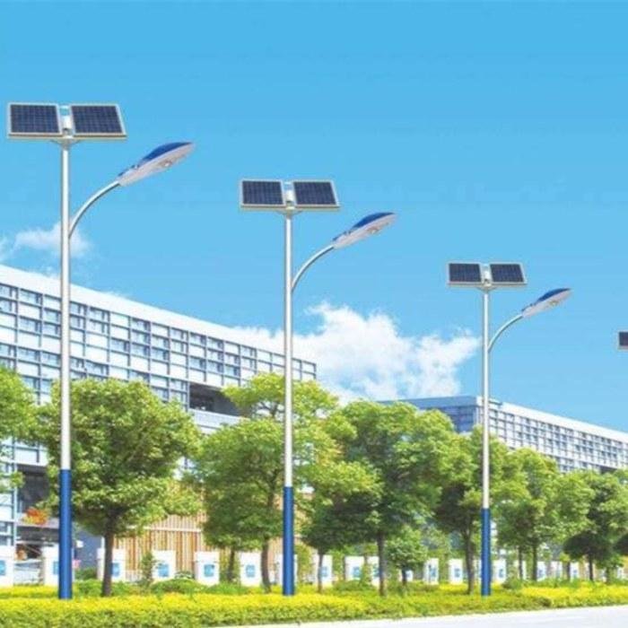 绿森太阳能路灯现货批发 双臂单臂灯杆 道路照明灯6米户外照明路灯
