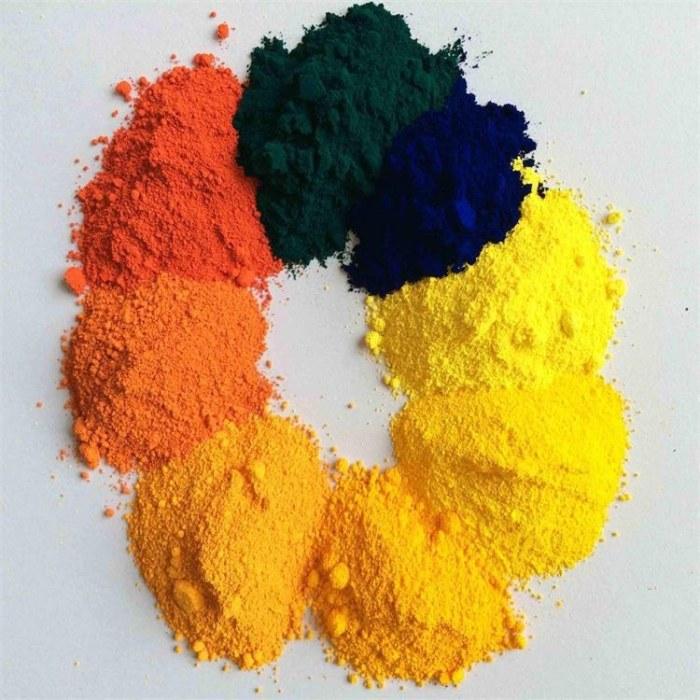 氧化铁黄 美术黄 地砖水泥用铁黄 彩色沥青路面颜料