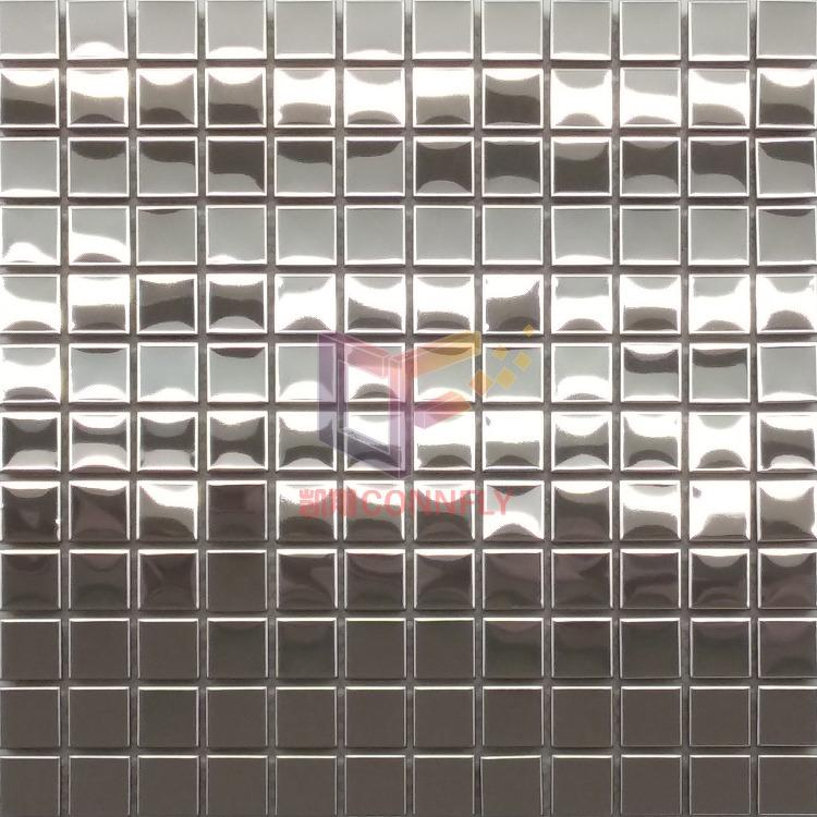 凯翔银色镜面304不锈钢马赛克