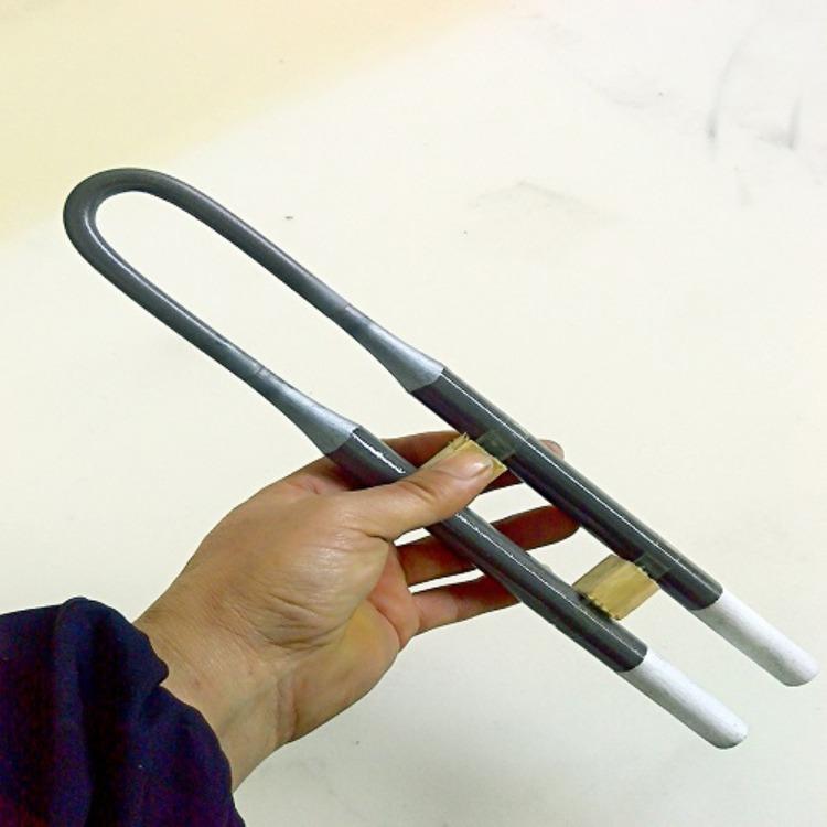 郑州铭鑫厂家供应U型硅钼棒直径4-9 6-12 马弗炉义齿炉加热管