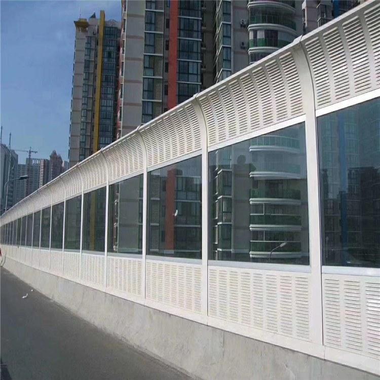 盛迈亿   道路隔音 百叶孔声屏障 金属透明混合型隔音墙  价格实惠