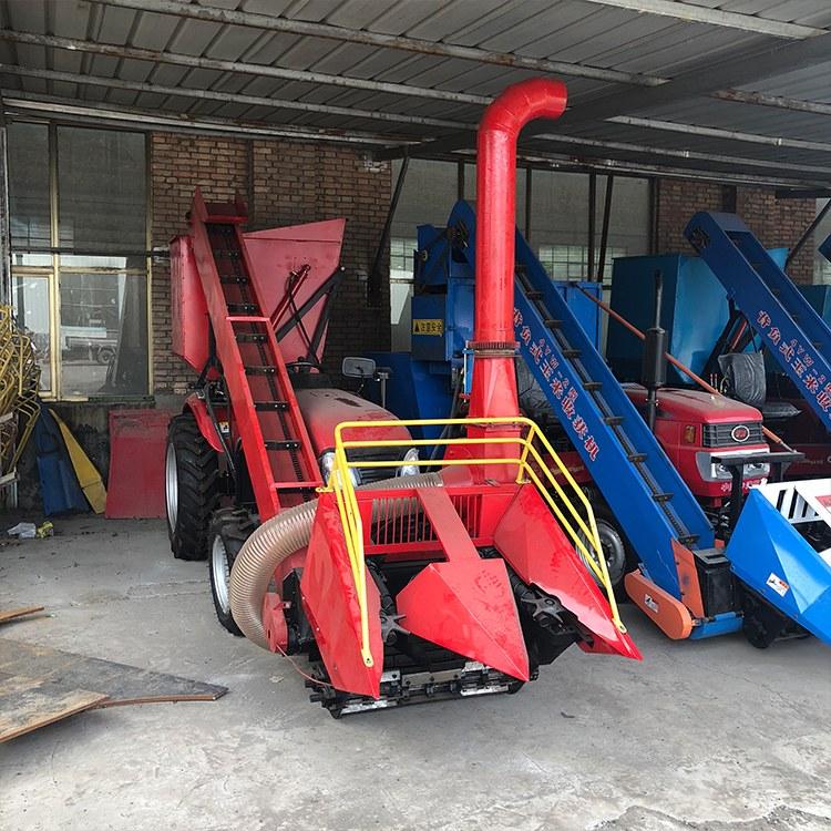 小型玉米收割机 四轮拖拉机配套的背负式玉米收获机 万丰厂家直销