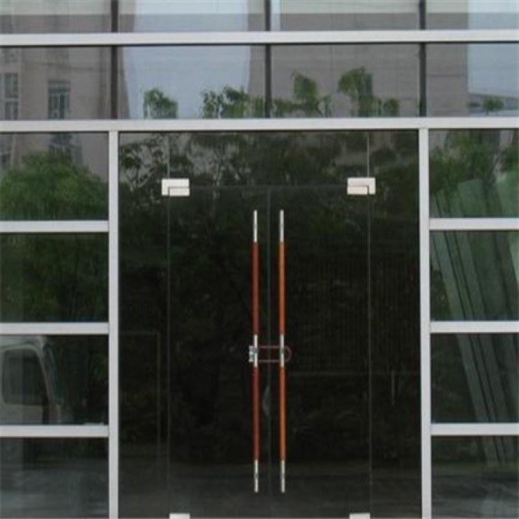 沧盛专业定制 地弹簧玻璃门 自由门 平开玻璃门 欢迎新老客户前来咨询
