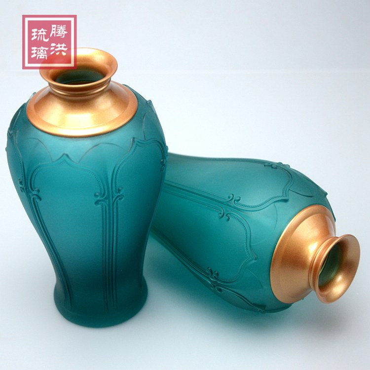 琉璃花瓶供奉花瓶佛具摆件 供佛花瓶套件 供佛摆件佛具批发厂家