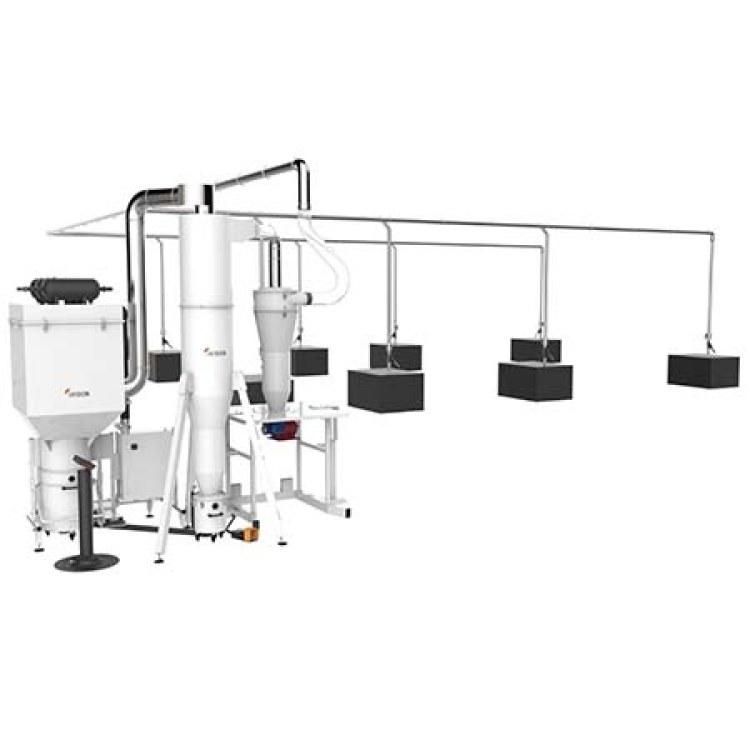 意大利ivision粉尘收集器 吸除0.12微米以上粉尘 用于PCB加工,塑模塑料,3D打印等行业