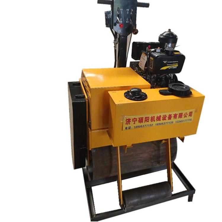 一诺机械手扶柴油压路机 SY-100C重型手扶单轮柴油压路机 单钢轮压实机
