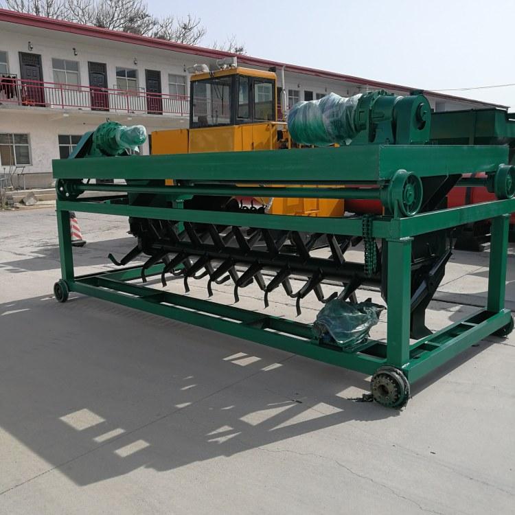 郑州科农 餐厨垃圾翻堆设备 轨道式翻堆机 鸡粪有机肥颗粒生产设备