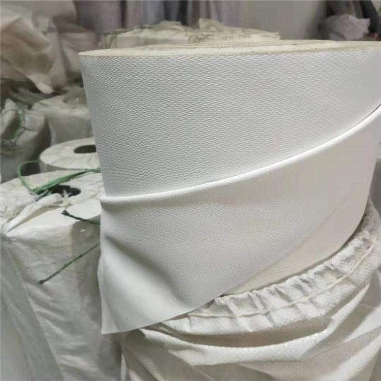 白色帆布挡烟垂壁布软连接硅胶防火布 加工定制防火苫布