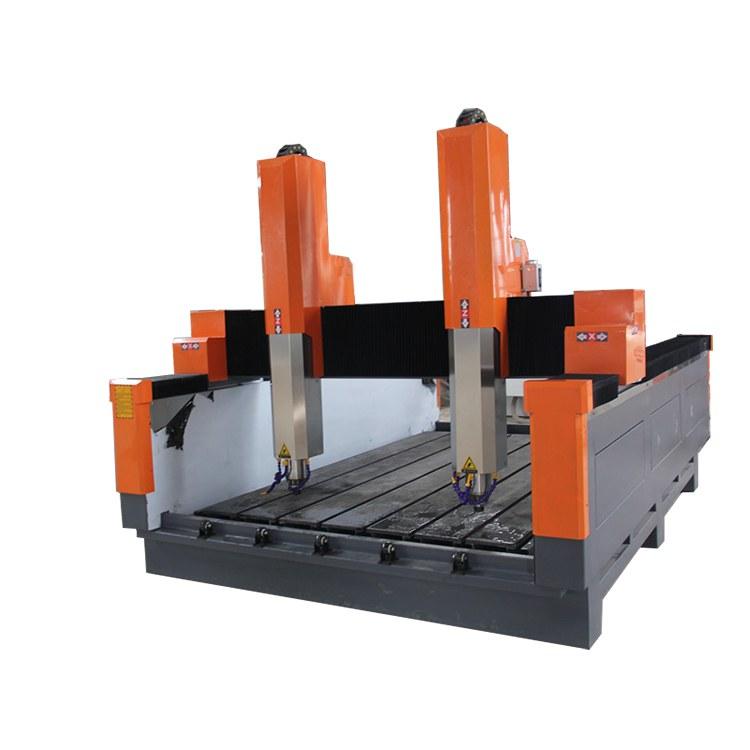 独立双头石材雕刻机石板栏板平面浮雕机重型石材雕刻机厂家