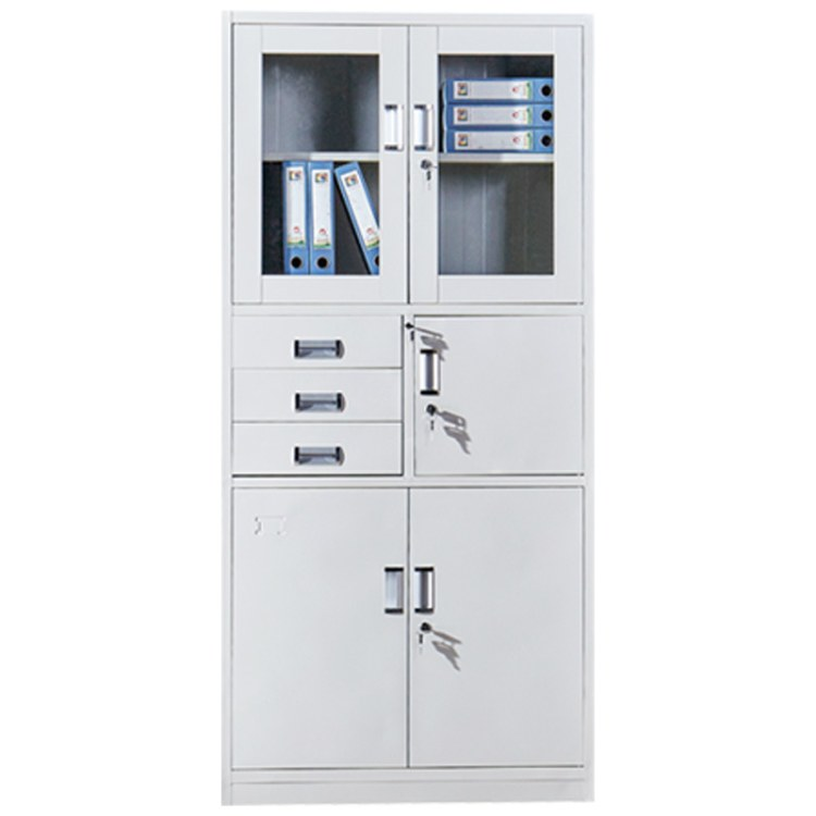 文件柜批发 文件柜中二斗器械加厚资料柜钢制档案柜储物柜 伟之豪