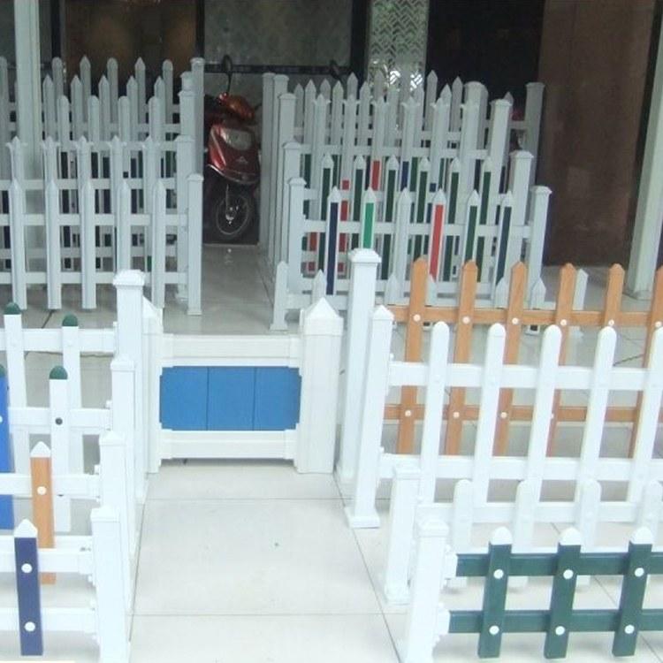 围墙锌钢栅栏厂 尖头蓝白色 围栏厂家大量供应 安装方便